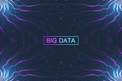 Complexo grande dos dados Uma comunicação abstrata gráfica do fundo Visualização do contexto da perspectiva Rede analítica Fotografia de Stock