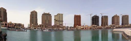 Complexo luxuoso de Qatar da pérola Imagens de Stock Royalty Free