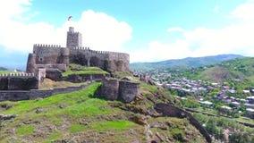 Complexo medieval do castelo do castelo de Jakeli em Akhaltsikhe, castelo de Rabati, Ge?rgia Castelo de Lomisa video estoque