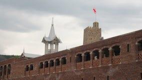 Complexo medieval do castelo em Akhaltsikhe, castelo de Rabati, Geórgia Castelo de Lomisa video estoque