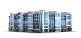 Complexo residencial europeu moderno ilustração do vetor
