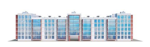 Complexo residencial europeu moderno ilustração stock