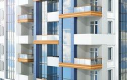 Complexo residencial moderno europeu outdoors ilustração royalty free