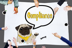Compliance Affirmation Continuity Regulation Concept Royalty Free Stock Images