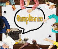 Compliance Affirmation Continuity Regulation Concept Stock Image