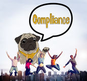 Compliance Affirmation Continuity Regulation Concept.  Royalty Free Stock Image