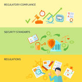 Compliance Banner Set Royalty Free Stock Photos