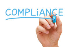 Compliance Blue Marker Stock Photography
