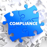 Compliance on Blue Puzzle. Stock Images