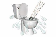 Compliance Breaking Rule Toilet Flush royalty free illustration