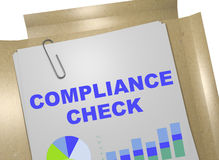 Compliance Check - business concept Stock Images