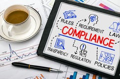 Compliance concept with business elements Stock Photos