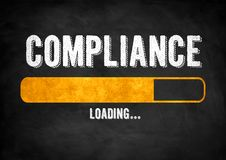 Compliance Concept. Black chalkboard concept royalty free stock photo