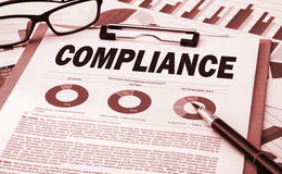 Compliance concept with financial chart Stock Image