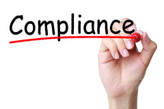 Compliance. Concept isolated on white background stock photo