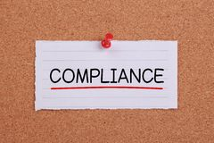 Compliance Concept Note Royalty Free Stock Image