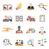 Compliance copyright law flat icons set Royalty Free Stock Photos