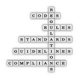 Compliance crossword puzzle Stock Image