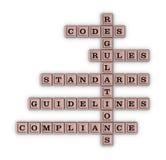 Compliance crossword puzzle Stock Photo