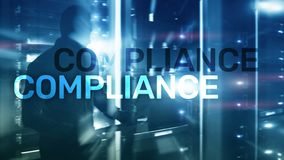 Compliance diagram with icons. Business concept on abstract background.  stock photos