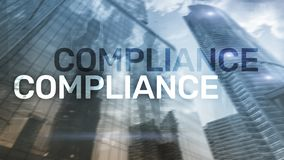 Compliance diagram with icons. Business concept on abstract background.  royalty free stock image