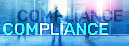 Compliance diagram with icons. Business concept on abstract background.  stock image