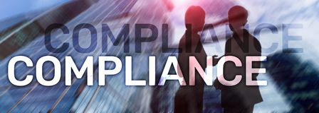 Compliance diagram with icons. Business concept on abstract background. Compliance diagram with icons. Business concept on abstract background royalty free stock images