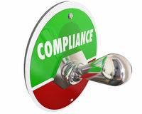 Compliance Follow Rules Laws Regulations Switch Stock Photography