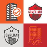 In Compliance Graphic Icon Set Stock Image
