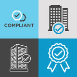 In Compliance Graphic Icon Set Stock Photo