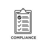 In Compliance Icon Set - Outline stock illustration