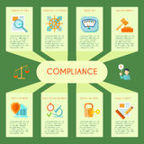 Compliance Infographics Set Royalty Free Stock Images