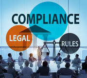 Compliance Legal Rule Compliancy Conformity Concept Royalty Free Stock Photos