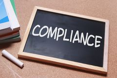 Compliance, Motivational Business Marketing Words Quotes Concept royalty free stock image