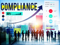 Compliance Rules Law Follow Regulation Concept.  stock images