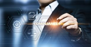 Compliance Rules Law Regulation Policy Business Technology concept Royalty Free Stock Images