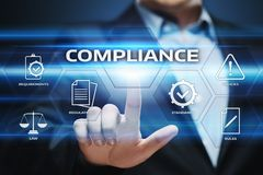 Compliance Rules Law Regulation Policy Business Technology concept Royalty Free Stock Photography