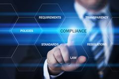 Compliance Rules Law Regulation Policy Business Technology concept Royalty Free Stock Photo