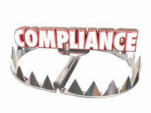 Compliance Rules Regulations Bear Trap Legal Risk Royalty Free Stock Image