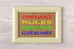 Compliance Rules Regulations Guidelines Concept royalty free stock photography
