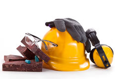 Compliance with safety at work Stock Images