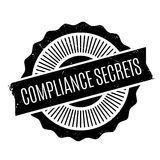 Compliance Secrets rubber stamp Royalty Free Stock Photos