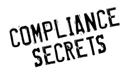 Compliance Secrets rubber stamp Stock Photography