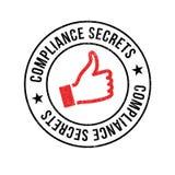 Compliance Secrets rubber stamp Stock Photo