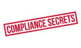 Compliance Secrets rubber stamp Royalty Free Stock Photography