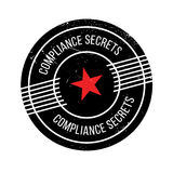 Compliance Secrets rubber stamp. Grunge design with dust scratches. Effects can be easily removed for a clean, crisp look. Color is easily changed Stock Photography