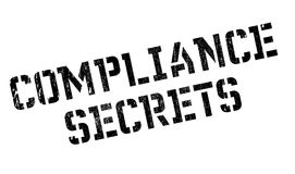 Compliance Secrets rubber stamp. Grunge design with dust scratches. Effects can be easily removed for a clean, crisp look. Color is easily changed Royalty Free Stock Photography