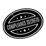 Compliance Secrets rubber stamp. Grunge design with dust scratches. Effects can be easily removed for a clean, crisp look. Color is easily changed Royalty Free Stock Photo