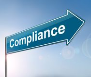 Compliance sign concept. Stock Photo