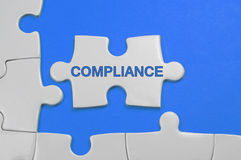 Compliance Text - Business Concept Royalty Free Stock Photography